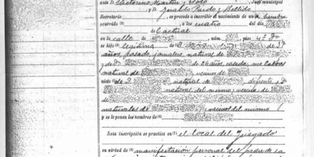 Certificado de Nacimiento en Registro Civil de Guadalajara